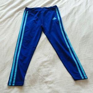 adidas Girls Active Leggings Size 6x Blue